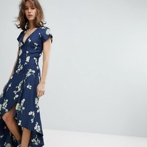 Free people lost in you button up midi maxi dress